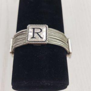 Jewelry - Silver Tone Multi Chain Monogram R Bracelet